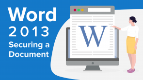 Securing a Document in Word 2013