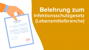 Belehrung zum Infektionsschutzgesetz (Lebensmittelbranche)