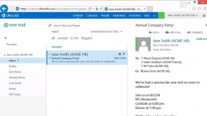 Using the Outlook Web App in Office 365