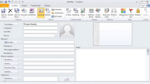 Contact in Outlook 2010