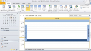 The Calendar in Outlook 2010