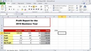 Changing the Table Structure & More Features in Excel 2010