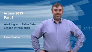 Working With Table Data in Access 2013
