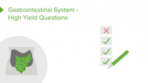 Gastrointestinal System - High Yield Questions