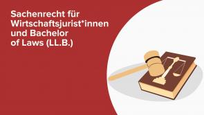 Sachenrecht für Wirtschaftsjurist*innen und Bachelor of Laws (LL.B.)
