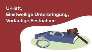 U-Haft, Einstweilige Unterbringung, Vorläufige Festnahme