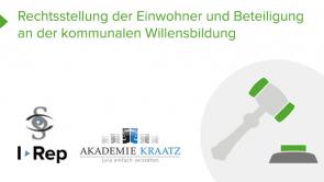 Rechtsstellung des Einwohners und kommunale Willensbildung (coming soon)