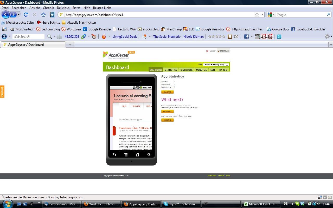 Beispiel App mit AppGeyser