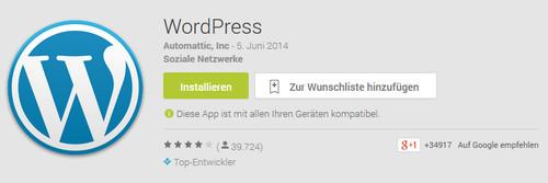 Android-App von WordPress