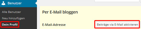 Per E-Mail bloggen
