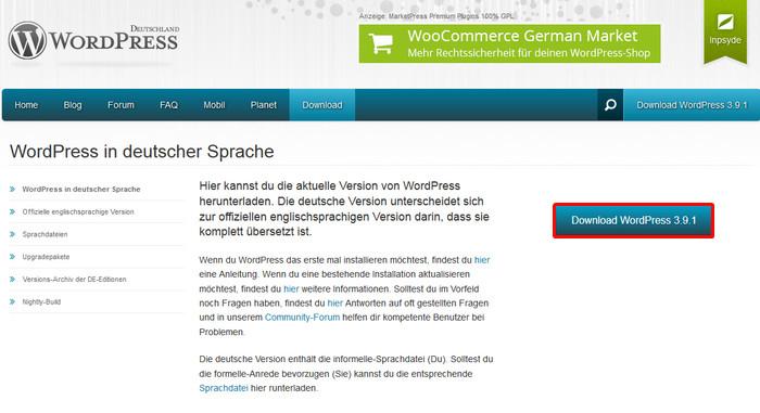 Deutsches WordPress Paket