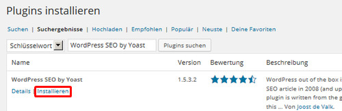 WordPress SEO by Yoast installieren