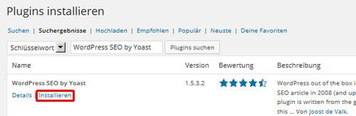 WordPress SEO by Yoast installieren