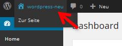 WordPress zur Seite