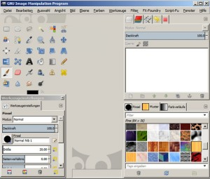 Screenshot der  Freeware GIMP