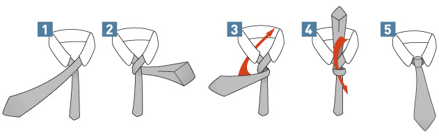 krawatte binden video