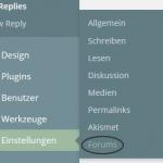 Einstellungen forum