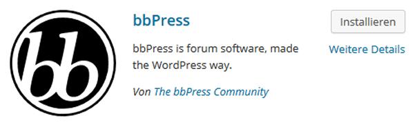 bbPress Forenplugin