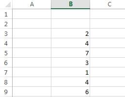 Eine einfache Liste als Ausgangslage