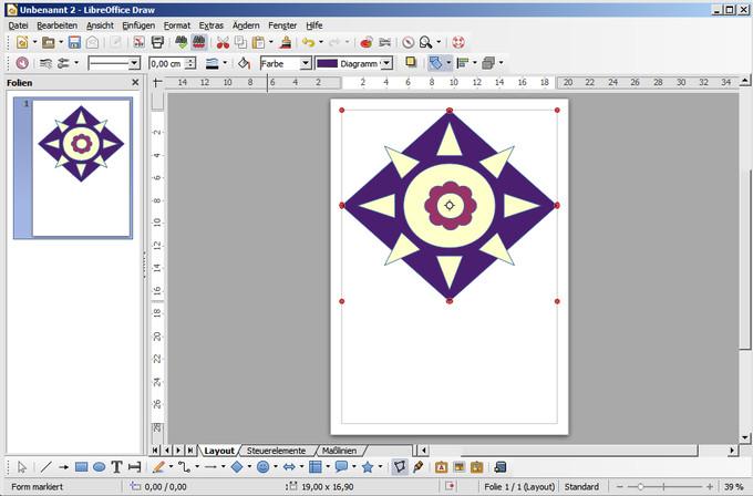 Programmfenster für Zeichnungen