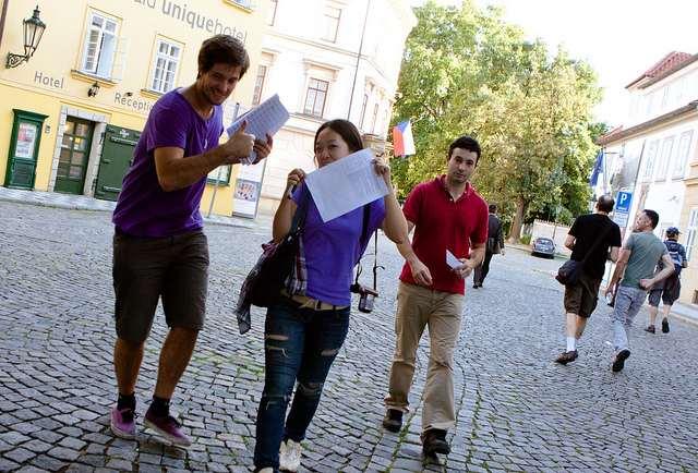 Studenten im Ausland