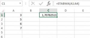 Einfache Möglichkeit für die Berechnung der Standardabweichung