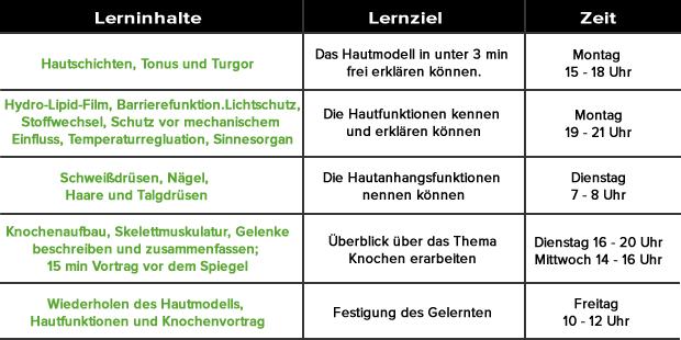 Checkliste Lernplan