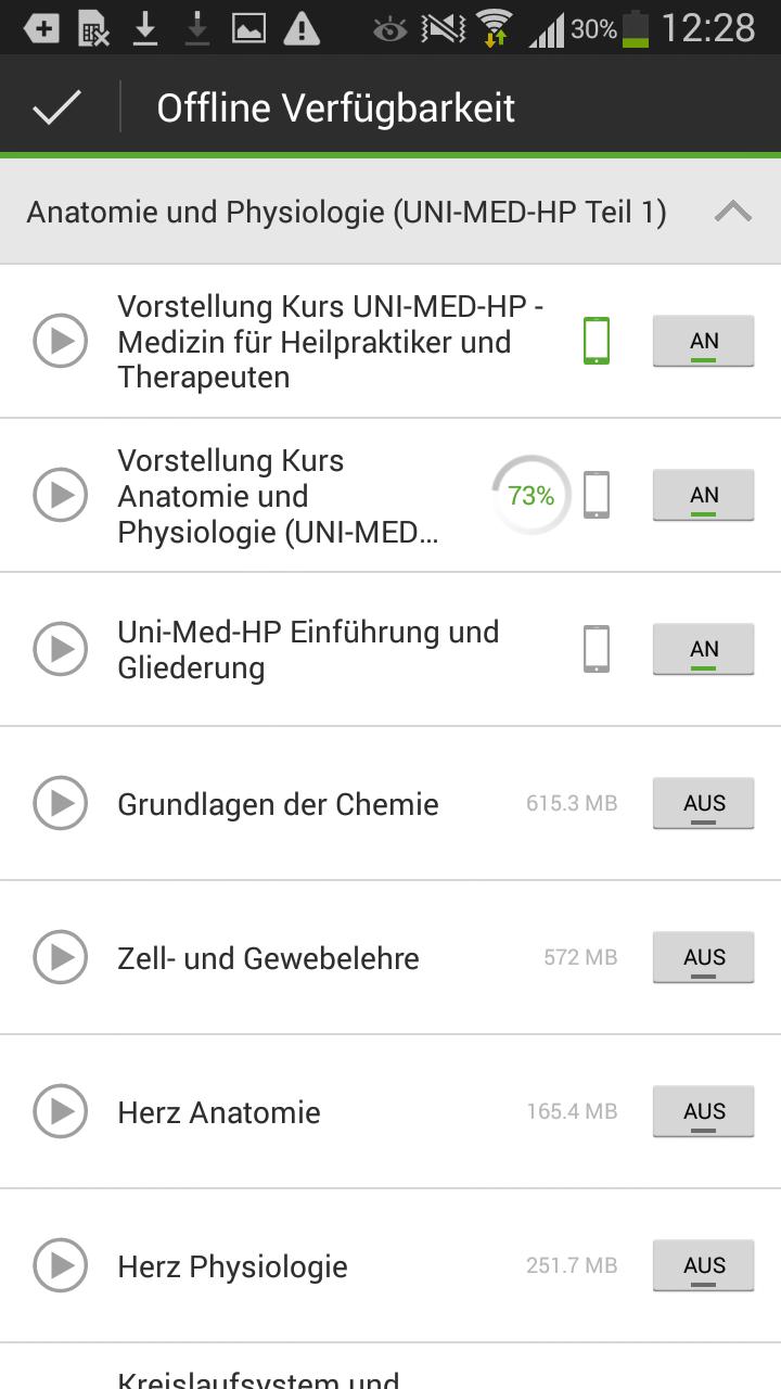 Lecturio-App: Offline-Funktion für Android