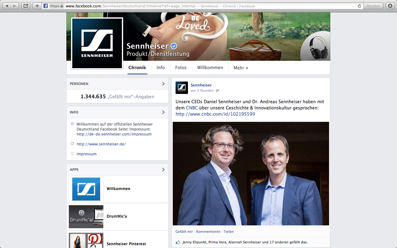 Sennheiser Interviewverweis mit Geschäftsführern