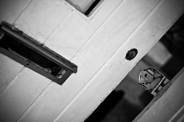 aufgebrochene Tür