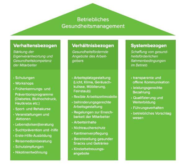 Säulen-Gesundheitsmanagement