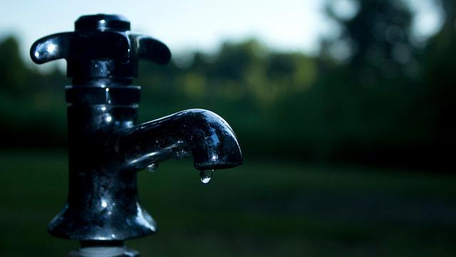 auf diesem Bild ist ein Wasserhahn