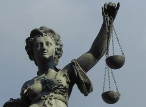 Waage der Justizia