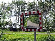 Konvexer Spiegel für Überblick im Straßenverkehr