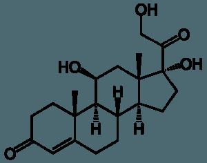 Strukturformel Cortisol