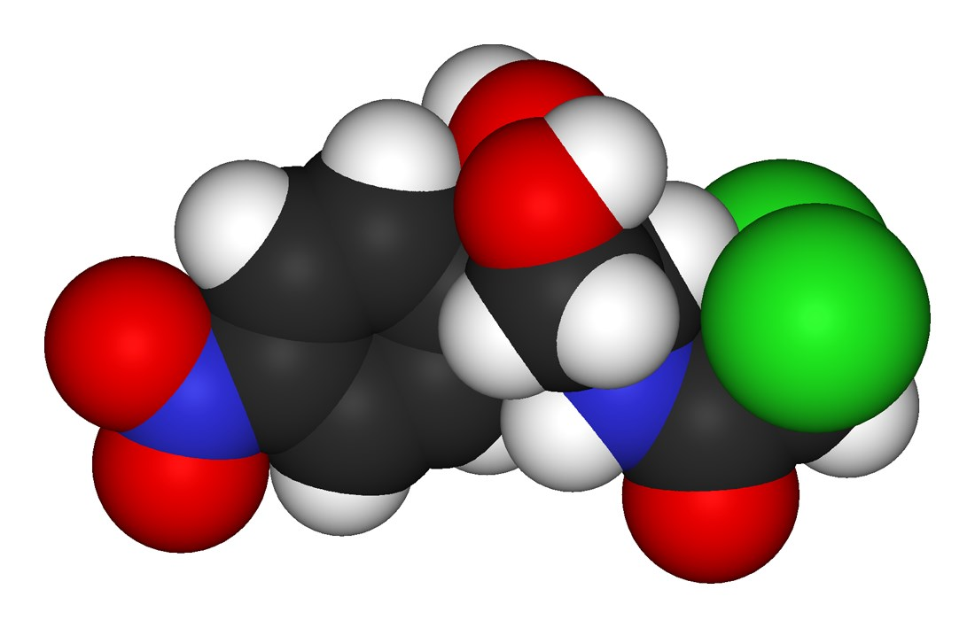 Chloramphenicol 3D Modell Antibiotikum