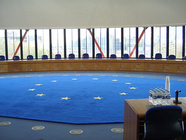European Court of Human Rights Court room