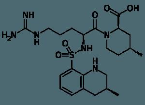 Molekularstruktur-Argatroban