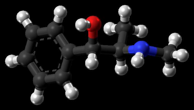 Ephedrine molecule model