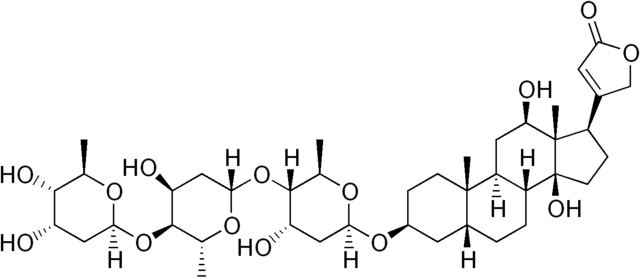This picture shows the chemical structure of Digoxin
