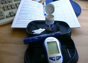 A kit used by a woman with gestational diabetes