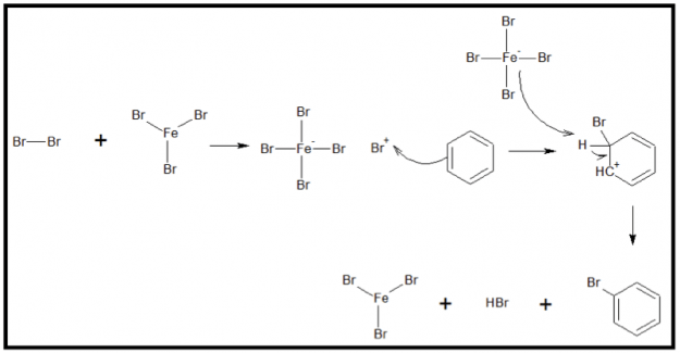 Bromination Reaction of Benzene