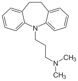 2D structure of TCA imipramine