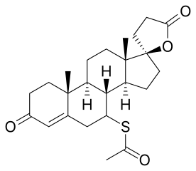 Skeletal formula of spironolactone